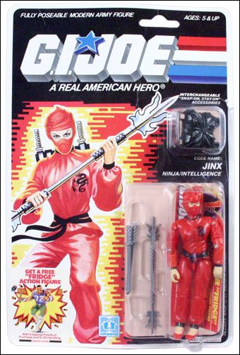 "G.I. Joe: A Real American Hero 3 3/4"" Basic Action Figures Jinx (Ninja/Intelligence) by Hasbro"