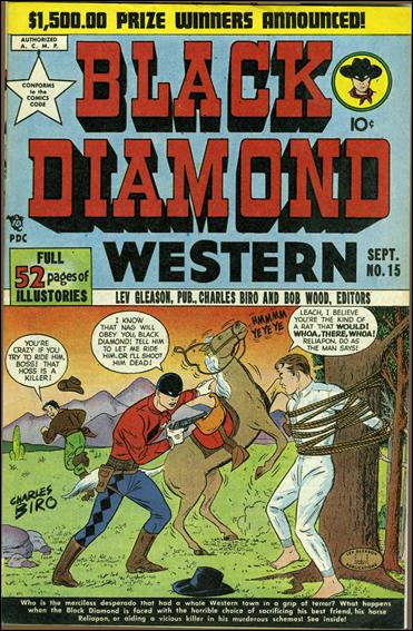 Black Diamond Western 15-A by Lev Gleason Productions
