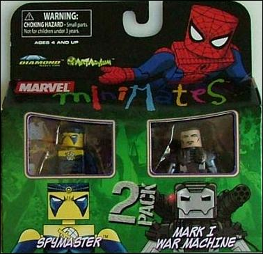 Marvel Minimates Spymaster and Mark I War Machine by Diamond Select