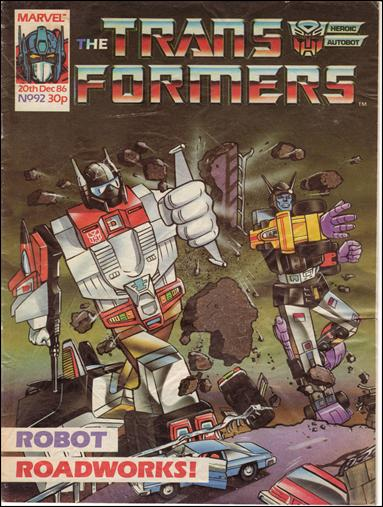 Transformers (UK) 92-A by Marvel UK