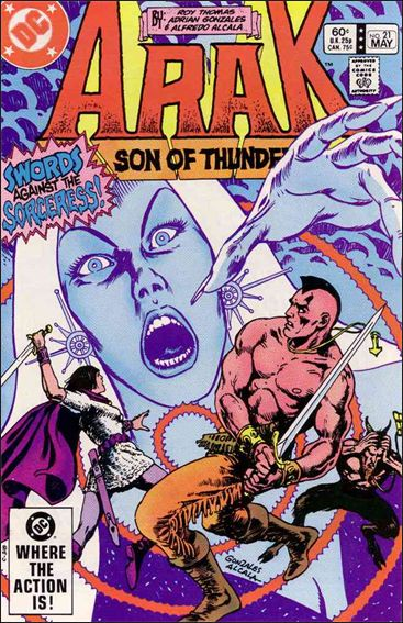 Arak Son of Thunder 21-A by DC