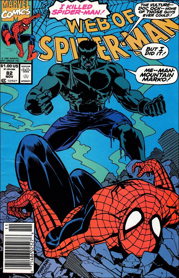 Web of Spider-Man (1985) 82-A by Marvel