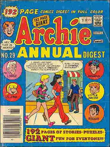 Archie Annual Digest Magazine 29-A by Archie