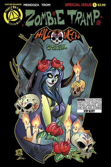 Zombie Tramp: Halloween Special 1-A by Action Lab: Danger Zone