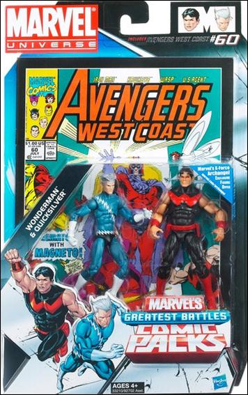 Marvel Universe: Marvel's Greatest Battles (Comic-Packs) Wonder Man and Quicksilver by Hasbro