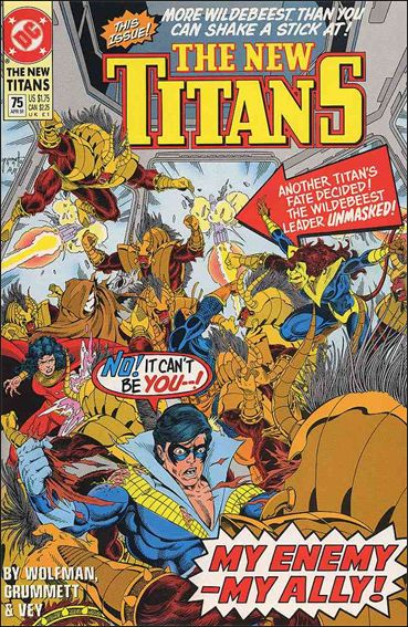 New Titans 75-A by DC