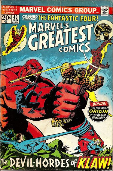 Marvel's Greatest Comics 40-A by Marvel