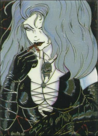 Lady Death All Chromium (Base Set) 65-A by Krome Productions