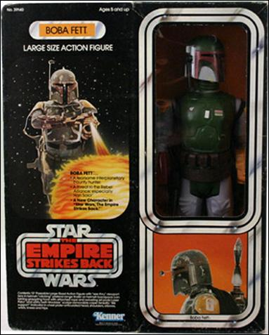 "Star Wars: 12"" Basic Action Figures (Vintage) Boba Fett (Empire Strikes Back Packaging) by Kenner"