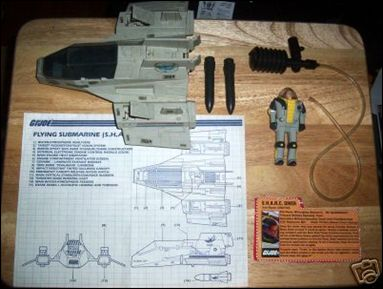 """G.I. Joe: A Real American Hero 3 3/4"""" Basic Vehicles and Playsets S.H.A.R.C. (Flying Submarine) by Hasbro"""