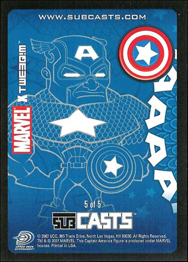 2007 Marvel Masterpieces (Subcasts Gamepiece Subset) 5-A by Upper Deck