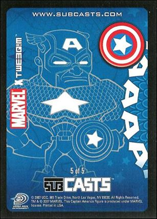 2007 Marvel Masterpieces (Subcasts Gamepiece Subset) 5-A
