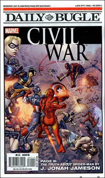 Daily Bugle Civil War Newspaper Special 1-A by Marvel