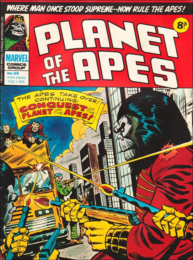 Planet of the Apes (UK) (1974) 68-A by Marvel UK
