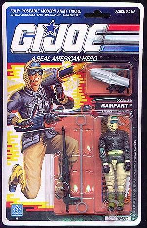 "G.I. Joe: A Real American Hero 3 3/4"" Basic Action Figures Rampart (Shoreline Defense) by Hasbro"