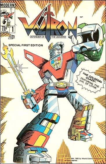 Voltron (1984) 1-A by Modern Comics