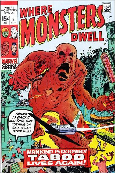 Where Monsters Dwell (1970) 5-A by Marvel