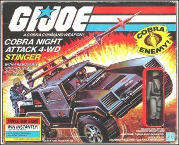 "G.I. Joe: A Real American Hero 3 3/4"" Basic Vehicles and Playsets Stinger (Cobra Night Attack 4-WD) by Hasbro"