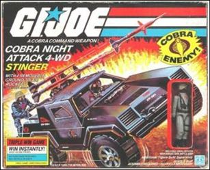 "G.I. Joe: A Real American Hero 3 3/4"" Basic Vehicles and Playsets Stinger (Cobra Night Attack 4-WD)"