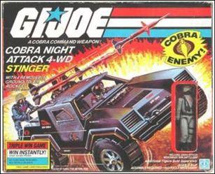 "G.I. Joe: A Real American Hero 3 3/4"" Basic Vehicles and Playsets Stinger (Cobra Night Attack 4-WD)"