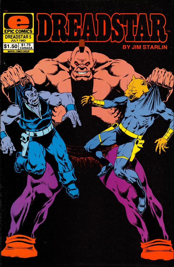Dreadstar (1982) 5-A by Epic