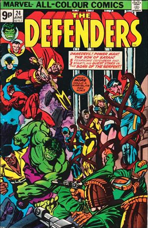 Defenders 24 B Jun 1975 Comic Book By Marvel