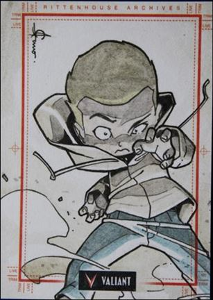 2013 Valiant Comics Preview Trading Card Set (Sketch Card Subset) JSan-05-A