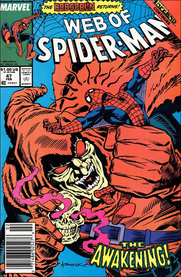 Web of Spider-Man (1985) 47-A by Marvel