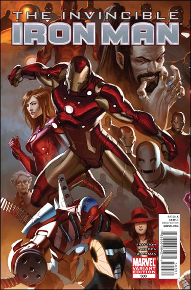 Invincible Iron Man (2008) 500-D by Marvel