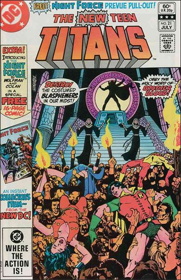 New Teen Titans (1980) 21-A by DC