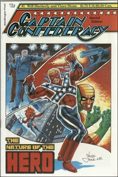 Captain Confederacy (1986) 1-B by SteelDragon Press
