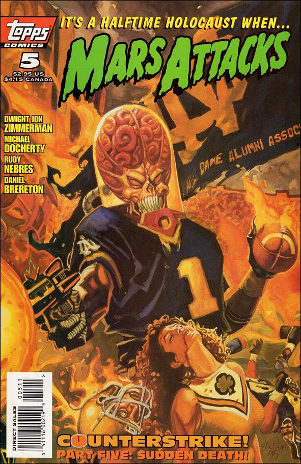 Mars Attacks (1995) 5-A by Topps