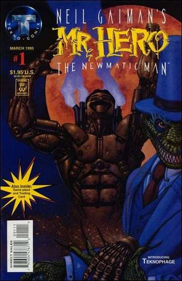 Neil Gaiman's Mr. Hero: The Newmatic Man (1995) 1-A by Tekno•Comix