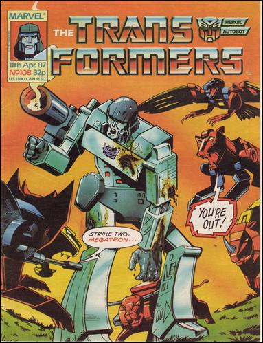 Transformers (UK) 108-A by Marvel UK