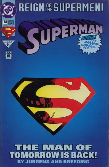 Superman (1987) 78-A by DC