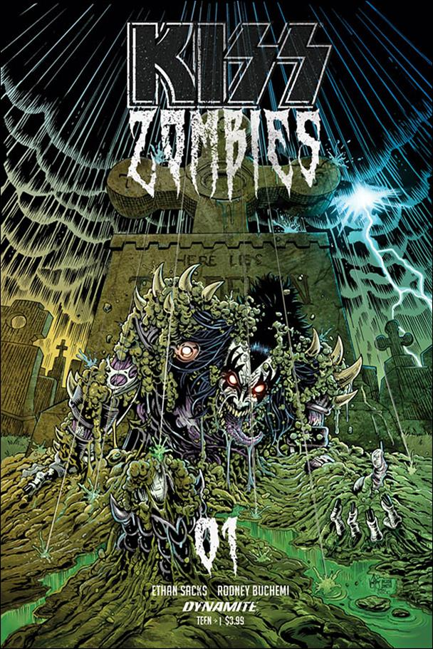 Kiss Zombies 1-E by Dynamite Entertainment