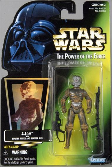 Star Wars: The Power of the Force 2 3 3/4&quot; Basic Action Figures 4-LOM (Holofoil Sticker) by Kenner