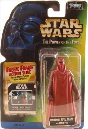"Star Wars: The Power of the Force 2 3 3/4"" Basic Action Figures Emperor's Royal Guard w/ Freeze Frame"