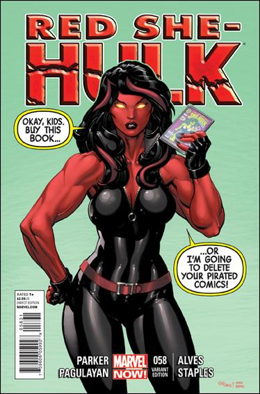 Red She-Hulk 58-B by Marvel