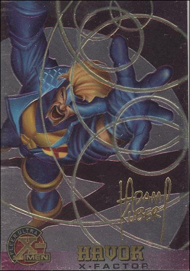 1995 Fleer Ultra X-Men All Chromium (Gold Signature Parallel Base Set) 15-A by Fleer