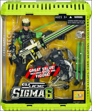 G.I. Joe: SIGMA 6 (Commando Assortment) Hi-Tech w/H.O.U.N.D. Sentry (w/Bonus DVD & Figure) by Hasbro