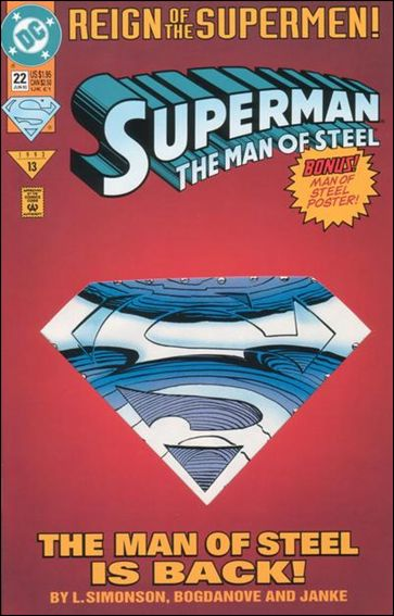 Superman: The Man of Steel 22-A by DC