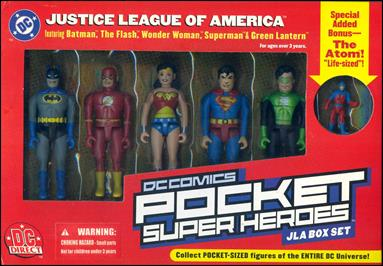 DC Comics Pocket Super Heroes (Box Sets) JLA Box Set by DC Direct
