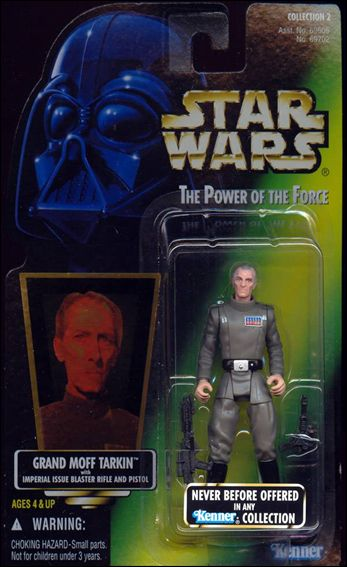 "Star Wars: The Power of the Force 2 3 3/4"" Basic Action Figures Grand Moff Tarkin (Collection 2) (Holofoil) by Kenner"