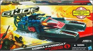 G.I. Joe: Retaliation (Bravo Class Vehicles) Cobra Fangboat with Swamp-Viper
