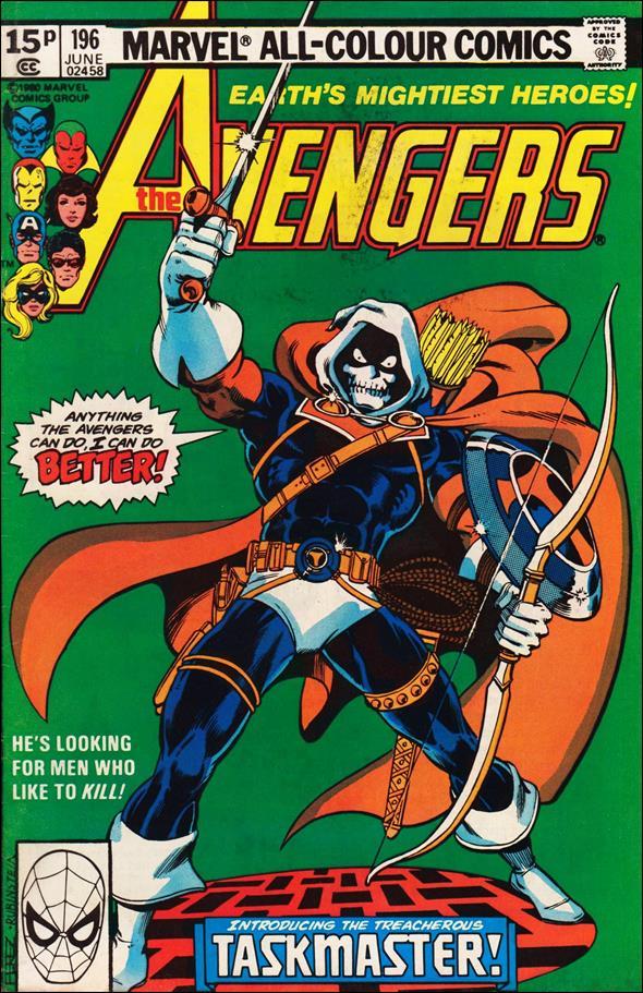 Avengers 196 B Jun 1980 Comic Book By Marvel