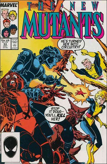 New Mutants (1983) 53-A by Marvel