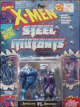 X-Men Steel Mutants (2-Packs) Apocalypse vs Archangel by Toy Biz