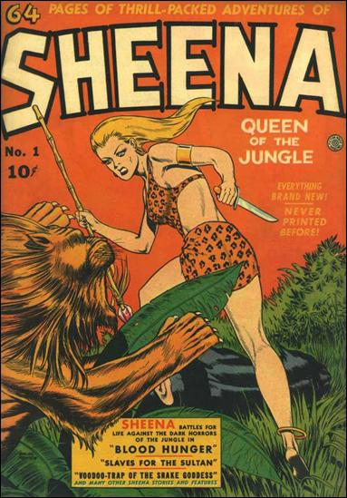 Sheena, Queen of the Jungle 1-A by Fiction House Magazines