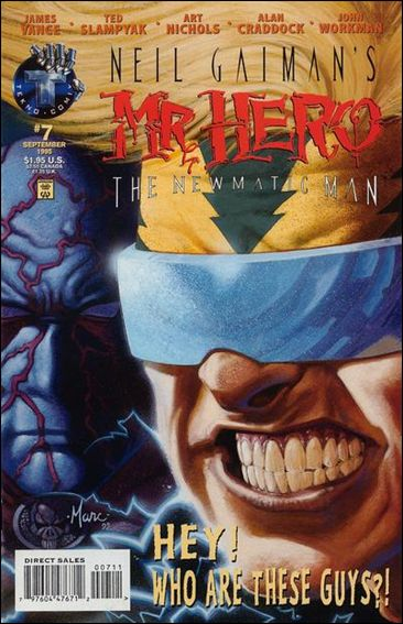 Neil Gaiman's Mr. Hero: The Newmatic Man (1995) 7-A by Tekno•Comix